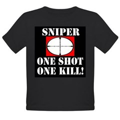 Sniper - One Shot - One Kill! Organic Toddler T-Shirt (dark)