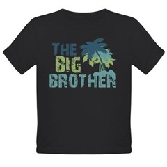 big brother palm tree Organic Toddler T-Shirt (dark)