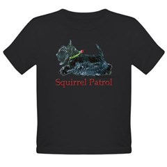 Scottish Terrier Squirrel Patrol Organic Toddler T-Shirt (dark)