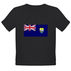 St. Helena Flag Organic Toddler T-Shirt (dark)