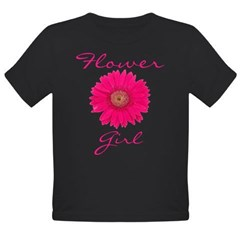 Flower Girl Organic Toddler T-Shirt (dark)