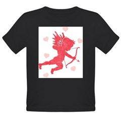Vintage Cupid Organic Toddler T-Shirt (dark)