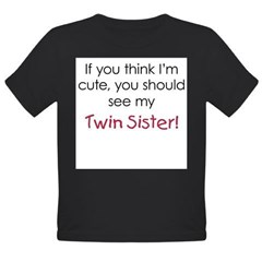 Cute Twin Sister - Organic Toddler T-Shirt (dark)