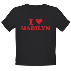 I LOVE MADILYN Organic Toddler T-Shirt (dark)