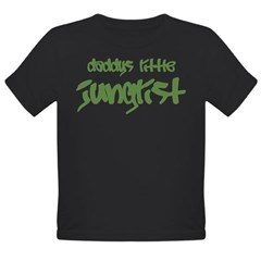 Daddy's Little Junglist Organic Toddler T-Shirt (dark)