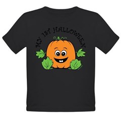 My First Halloween [Pumpkin] Organic Toddler T-Shirt (dark)