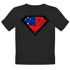 Samoa Flag Organic Toddler T-Shirt (dark)