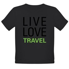 Live Love Travel Organic Toddler T-Shirt (dark)