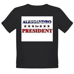 ALESSANDRO for president Organic Toddler T-Shirt (dark)