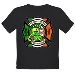 Firefighter-Irish Organic Toddler T-Shirt (dark)