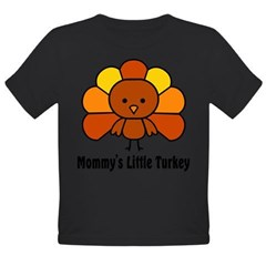Mommy's Litttle Turkey Organic Toddler T-Shirt (dark)