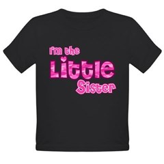 I'm the Little Sister Organic Toddler T-Shirt (dark)