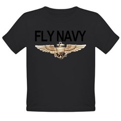 Fly Navy Wings Organic Toddler T-Shirt (dark)
