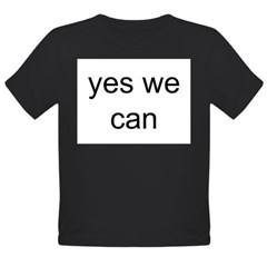 obama yes we can Organic Toddler T-Shirt (dark)