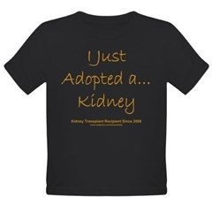 2008 Recipient Adopted Kidney Organic Toddler T-Shirt (dark)