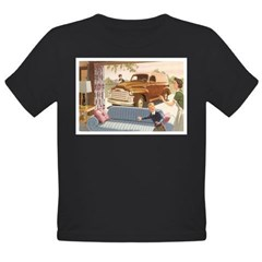 1954 GMC Panel Truck Organic Toddler T-Shirt (dark)