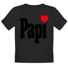 I love Papi Organic Toddler T-Shirt (dark)