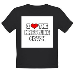 """I Love The Wrestling Coach"" Organic Toddler T-Shirt (dark)"