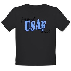 cp proud usaf brat blue Organic Toddler T-Shirt (dark)