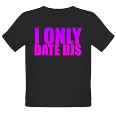 I Only Date Djs Pink Organic Toddler T-Shirt (dark)