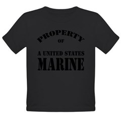 Property of a US Marine Organic Toddler T-Shirt (dark)