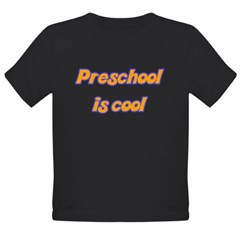 Preschool is cool - Organic Toddler T-Shirt (dark)