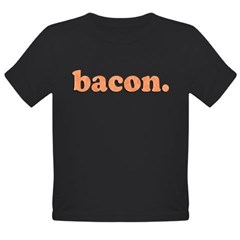 bacon Organic Toddler T-Shirt (dark)