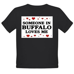 Loves Me in Buffalo Organic Toddler T-Shirt (dark)