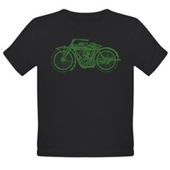 Vintage Motorcycle Organic Toddler T-Shirt (dark)
