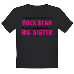rockstar big sister Organic Toddler T-Shirt (dark)