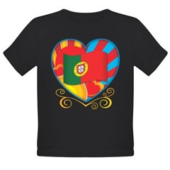 Portugese Heart Organic Toddler T-Shirt (dark)