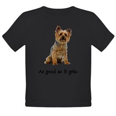 Good Silky Terrier Organic Toddler T-Shirt (dark)