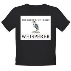 The Great Blue Heron Whisperer Organic Toddler T-Shirt (dark)