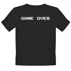 GAME OVER Organic Toddler T-Shirt (dark)