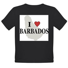 I Love Barbados Organic Toddler T-Shirt (dark)