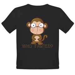 Who Farted? Organic Toddler T-Shirt (dark)