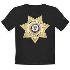 Massachusetts Deputy Sheriff Organic Toddler T-Shirt (dark)