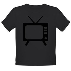 TV Organic Toddler T-Shirt (dark)