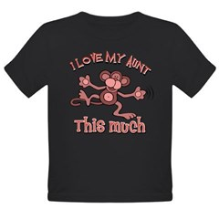 I love my Aunt Organic Toddler T-Shirt (dark)