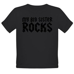 My Big Sister Rocks Organic Toddler T-Shirt (dark)