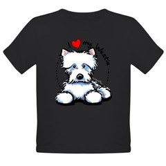 I Love Westies Organic Toddler T-Shirt (dark)