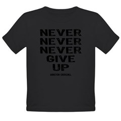 Never Give Up Organic Toddler T-Shirt (dark)