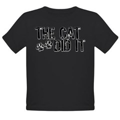 The Cat Did It Infant Creeper Organic Toddler T-Shirt (dark)