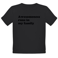 Awesomeness Organic Toddler T-Shirt (dark)