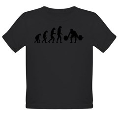 Evolution weight lifting Organic Toddler T-Shirt (dark)