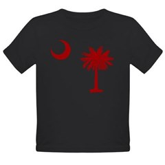 Palmetto & Cresent Moon Organic Toddler T-Shirt (dark)