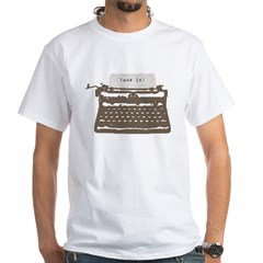 Typewriter White T-Shirt