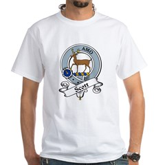 Scott Clan Badge White T-Shirt