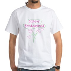 Flowers Jr. Bridesmaid White T-Shirt