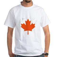 Canadian Maple Leaf White T-Shirt